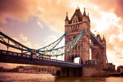 Canvastavlor Tower Bridge London, Storbritannien