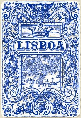 Canvastavlor Traditionell Tiles Azulejos Lisboa, Portugal