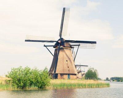 Canvastavlor traditionell väderkvarn i Nederländerna