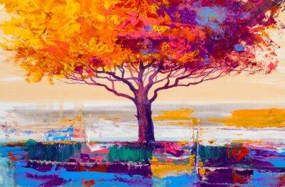 Canvastavlor Trädoljemålning, konstnärlig bakgrund