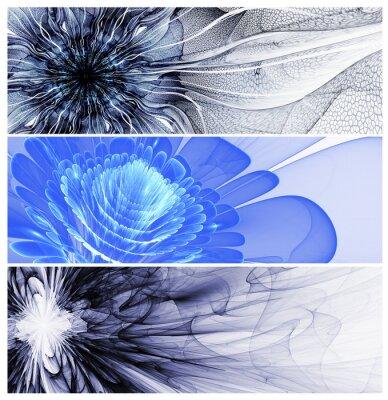 Canvastavlor Tre abstrakt blomma baners