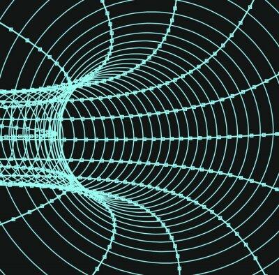 Canvastavlor Tredimensionell abstrakt tunnel eller ett rör