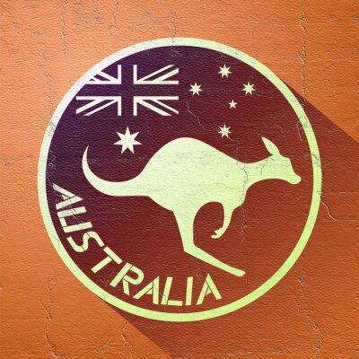 Canvastavlor trevligt australien icon