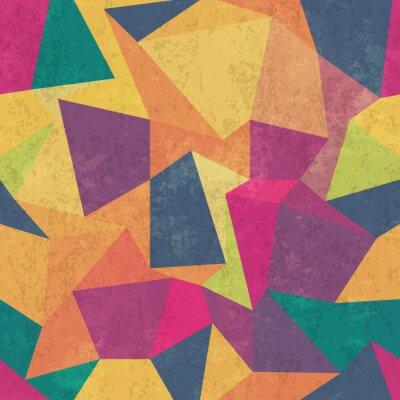 Canvastavlor Triangelmönster. Färgrik, grunge och smidig. grunge effekter