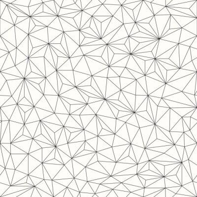 Canvastavlor Trianglar bakgrund, seamless, line design