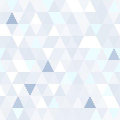 Canvastavlor Triangulär form skimrande blå seamless. Geometrisk glänsande bakgrund.