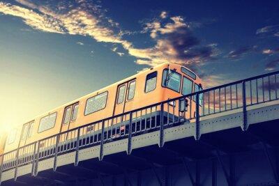 Canvastavlor tunnelbana