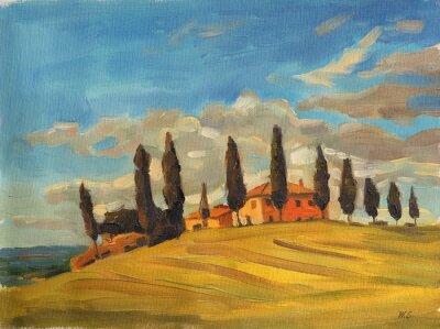 Canvastavlor tuscany