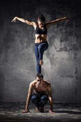 Canvastavlor två dansare