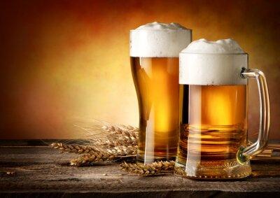 Canvastavlor Två muggar av öl