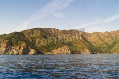 Canvastavlor typer av den turkiska Svarta havets kust