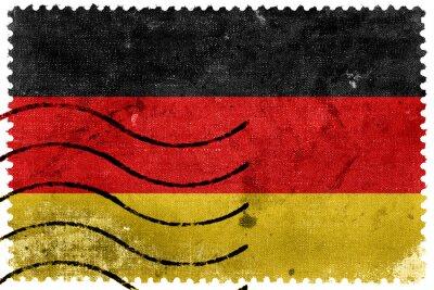 Canvastavlor Tyskland sjunker - gammal frimärke