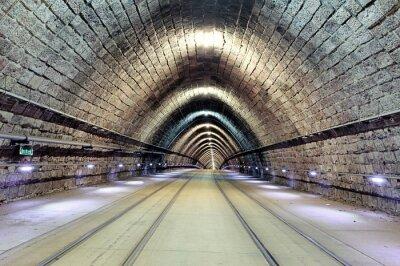 Canvastavlor Underjordiska järnvägen med tåg i rörelse, transporation.