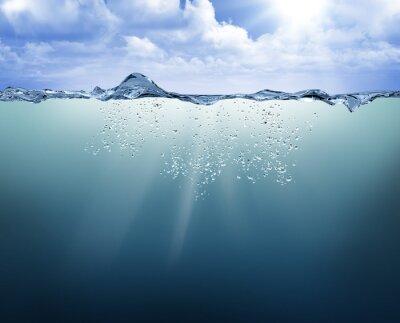 Canvastavlor undervattensvy med blått vatten
