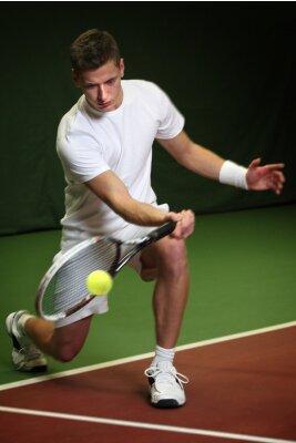 Canvastavlor Ung man spelar tennis