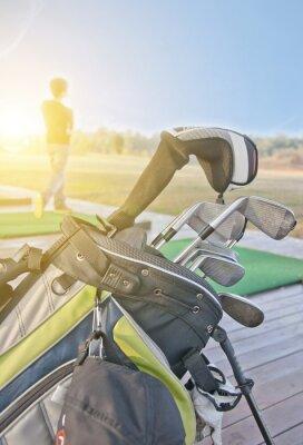 Canvastavlor ungdom tränar golf