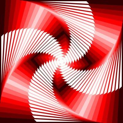 Canvastavlor Utforma färgrik virvelrörelse illusion tetragon geometrisk tillbaka