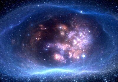 Canvastavlor Utrymme bakgrund med nebulosa och stjärnorna