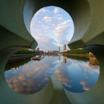 Canvastavlor utsikt över floden Thames på London