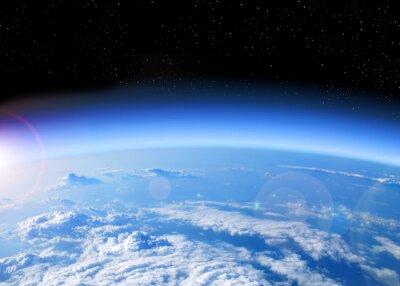 Canvastavlor utsikt över jorden från rymden