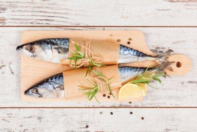 Canvastavlor Utsökt färsk fisk.