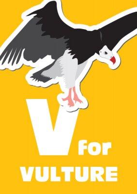 Canvastavlor V för gam, ett djur alfabet för barnen