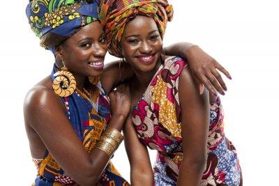Canvastavlor Vacker Afrikansk mode modesl i traditionell klädsel.