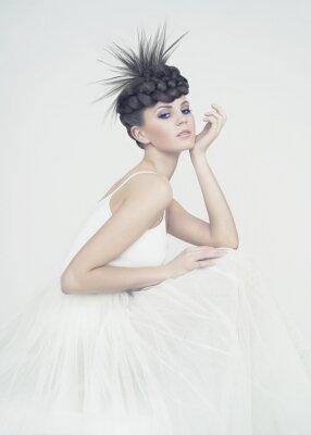 Canvastavlor vacker ballerina