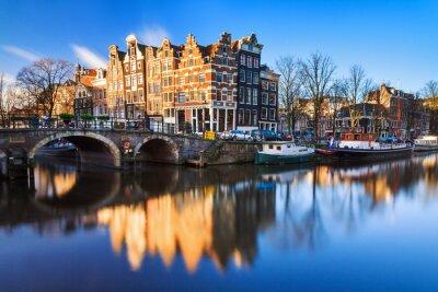 Canvastavlor Vacker bild av Unescos världsarv kanalerna i