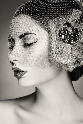 Canvastavlor Vacker kvinna ansikte. perfekt makeup