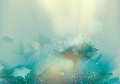 Canvastavlor Vackra abstrakt landskap / magi blommig bakgrund