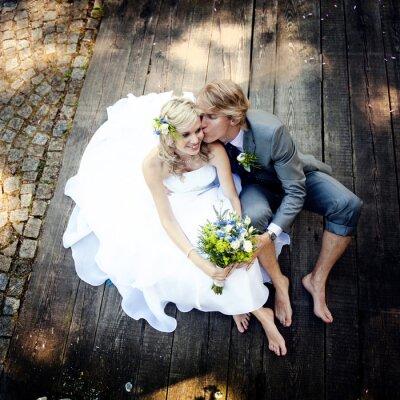 Canvastavlor Vackra bröllop par