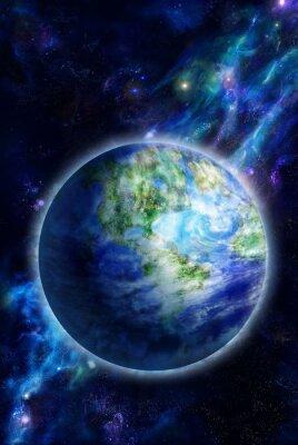 Canvastavlor Vackra jord är i rymden