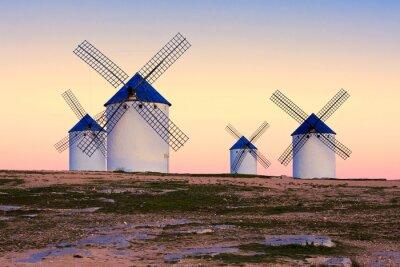 Canvastavlor väderkvarn i Campo de Criptana, La Mancha, Spanien