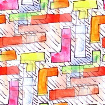 Canvastavlor Väggmålning färgade ränder bakgrund seamless
