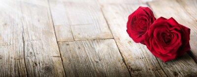 Canvastavlor Valentinkort - solljus på två ro In Love