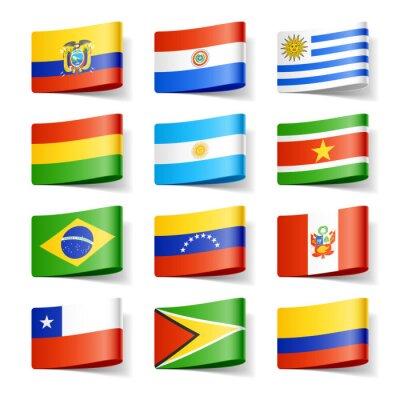 Canvastavlor Världen sjunker. Sydamerika.