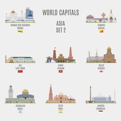 Canvastavlor världens huvudstäder