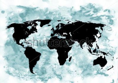 Canvastavlor Världskarta bakgrund. Grunge bakgrund. Abstrakt känslomässigt konst Modernt element.