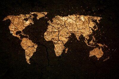 Canvastavlor världskarta på grunge bakgrund