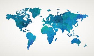 Canvastavlor Världskarta vektor abstrakt illustration mönster