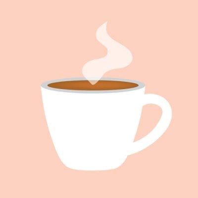 Canvastavlor varm kaffekopp ikon-vektor illustration