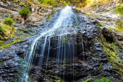 Canvastavlor Vattenfall i vilda skogen
