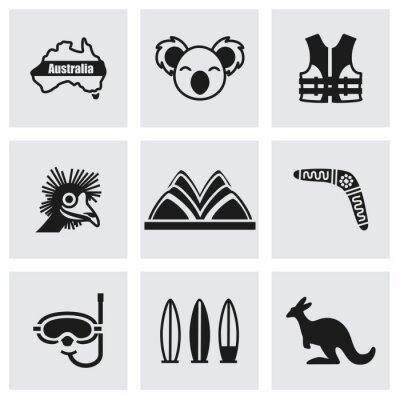 Canvastavlor Vector Australien ikoner
