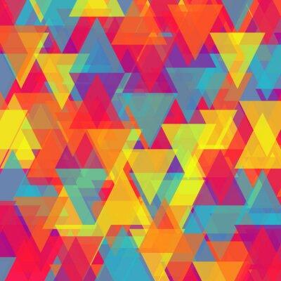 Canvastavlor Vektor av abstrakt triangel bakgrund