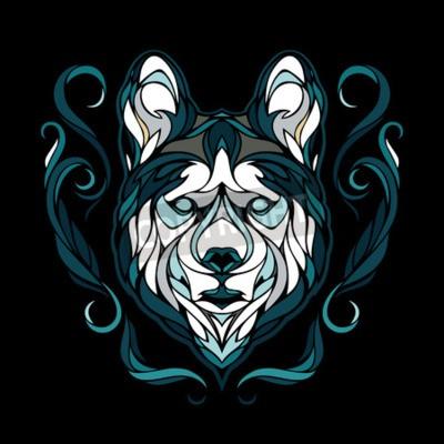 Canvastavlor Vektor bild av en hund siberian husky