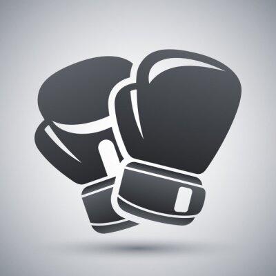 Canvastavlor Vektor boxhandskar ikon