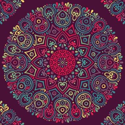 Canvastavlor Vektor indian Mandala