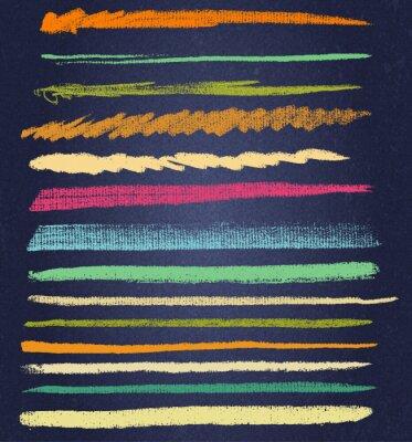 Canvastavlor vektor krita linjer eller penslar