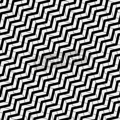 Canvastavlor Vektor sömlösa mönster. Modern elegant struktur. Upprepa geometriska plattor med volym diagonal sicksack - lager vektor